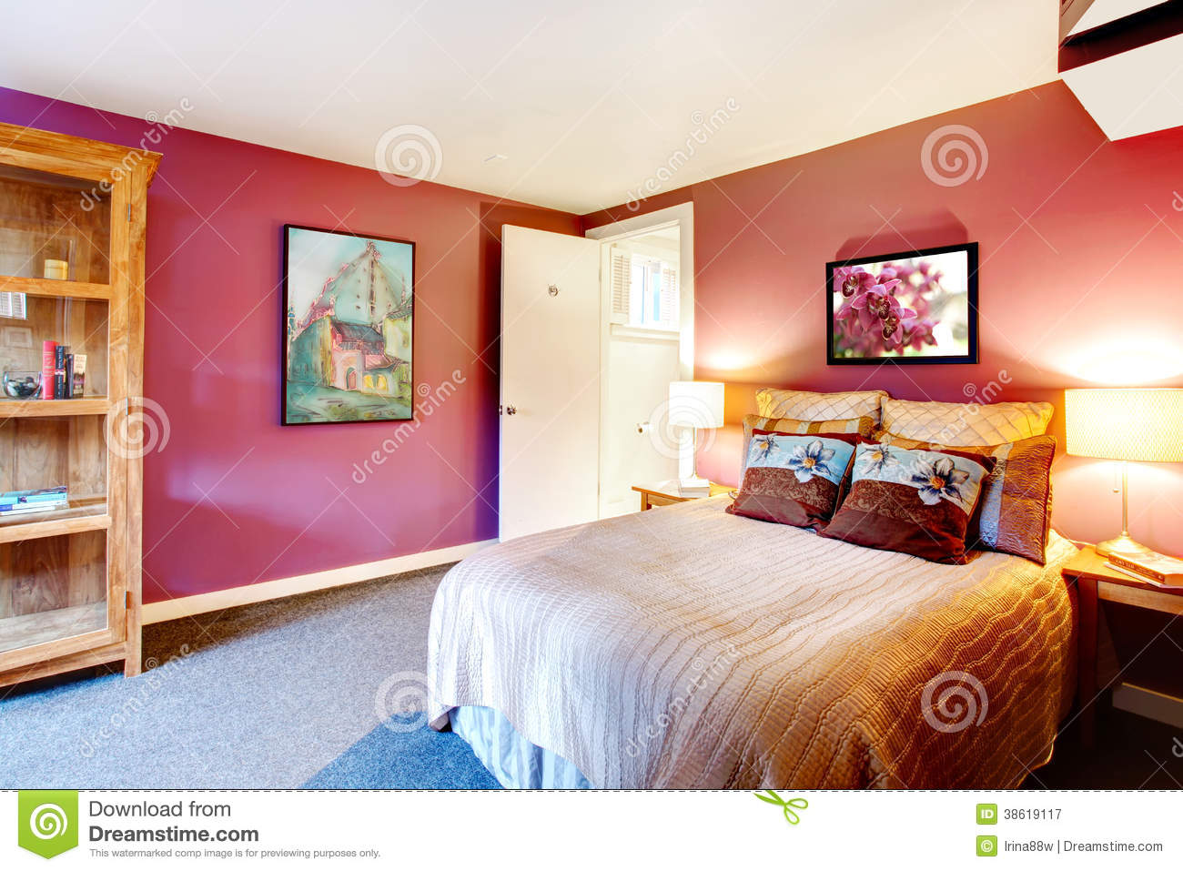 Contrast color beautiful bedroom stock image image of modern inside 38619117 - Image of beautiful bed rooms ...