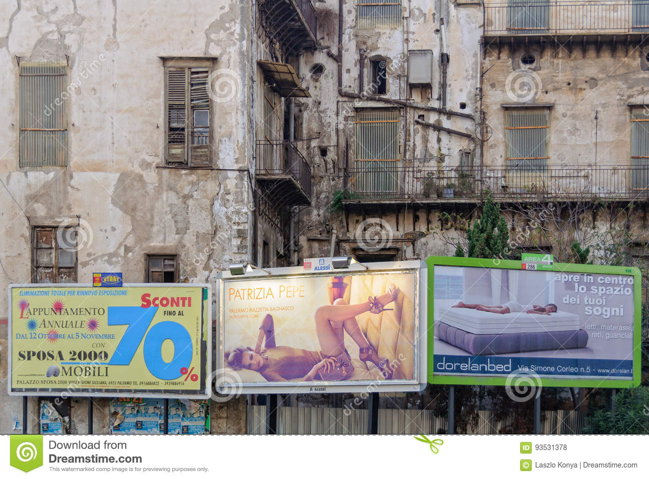 Contrast And Consumerism - Palermo Editorial Stock Photo ...