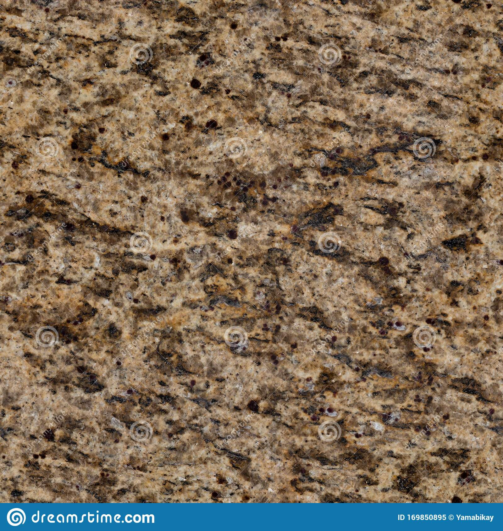 Contrast Light Brown Granite Texture With Pattern Seamless Square Background Tile Ready Stock Image Image Of Decorative Element 169850895