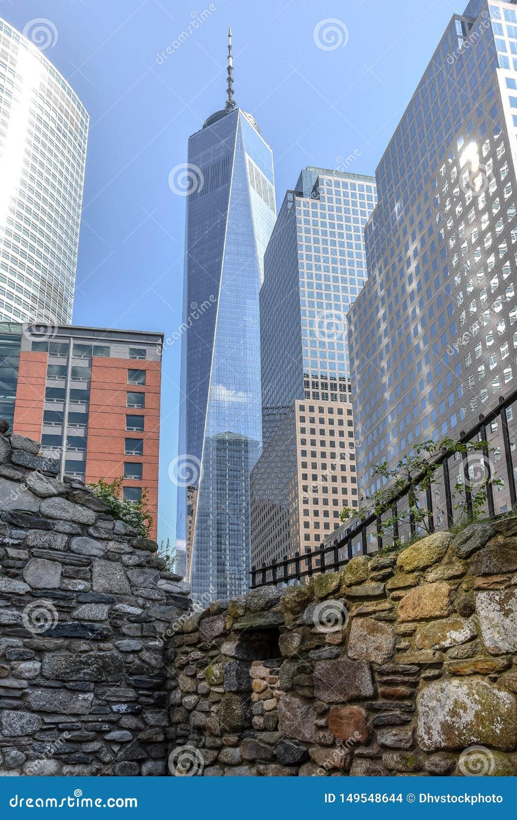 Contraste de NYC au World Trade Center, USA