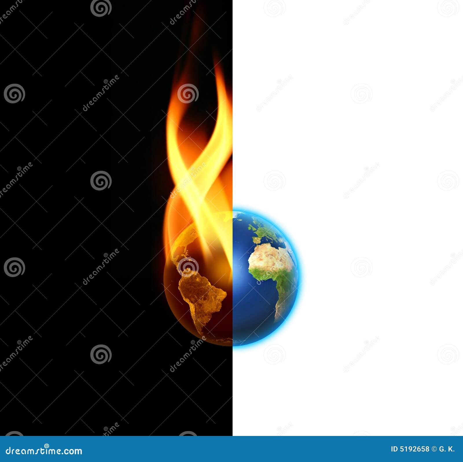 Contraste du monde entre le le bien et le mal