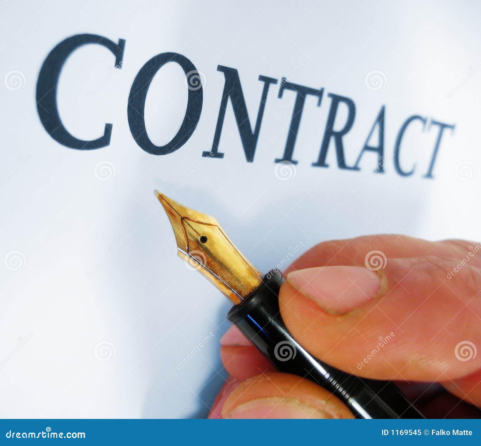 Contrat d écriture
