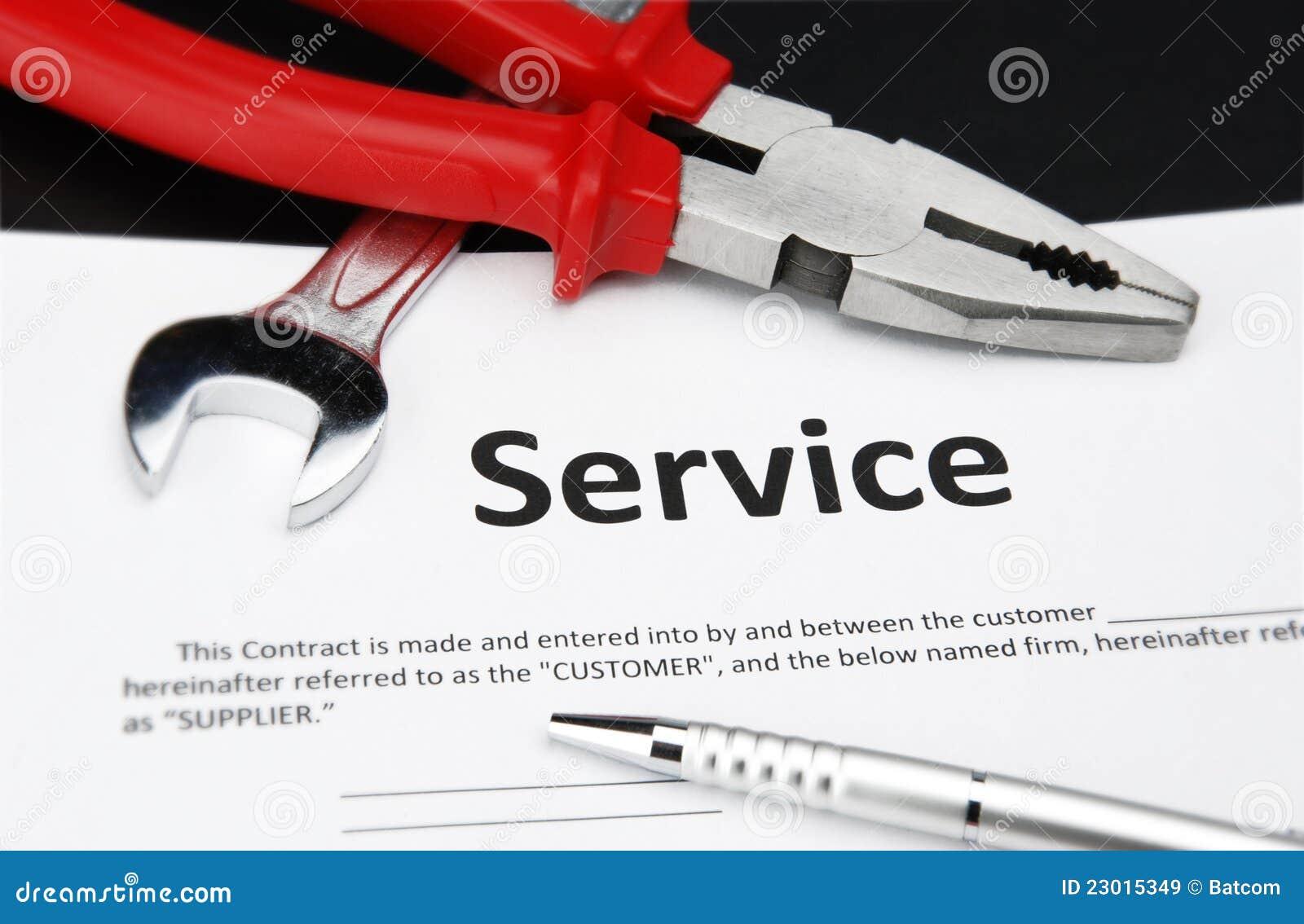 contrat d 39 entretien image stock image du service signature 23015349. Black Bedroom Furniture Sets. Home Design Ideas