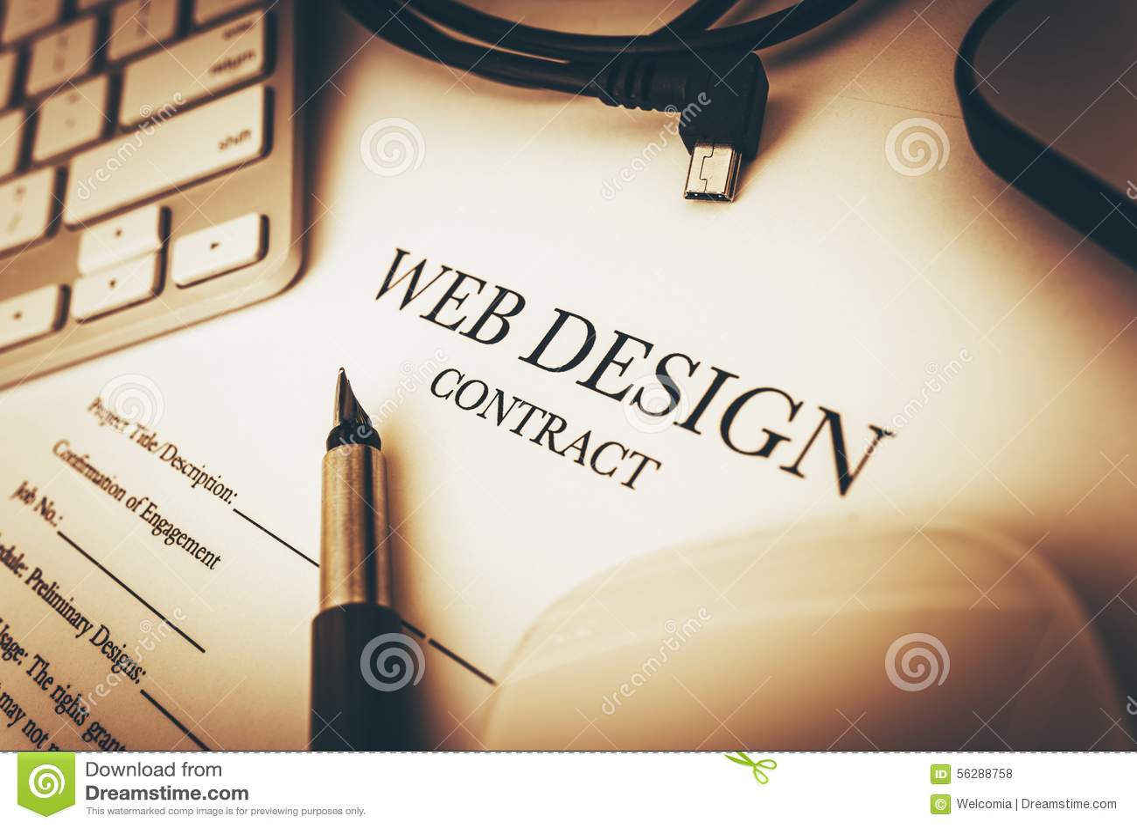 Contrat de web design