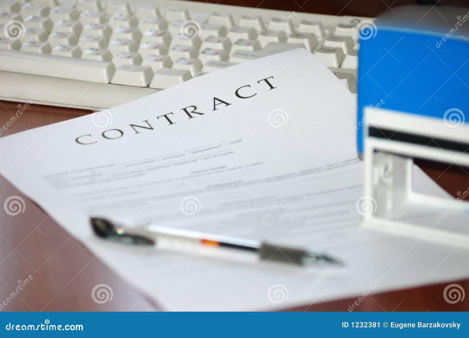 Contrat signé et estampé