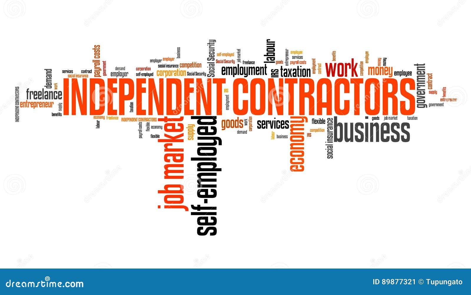 Contratistas Independientes Stock de ilustración - Ilustración de ...