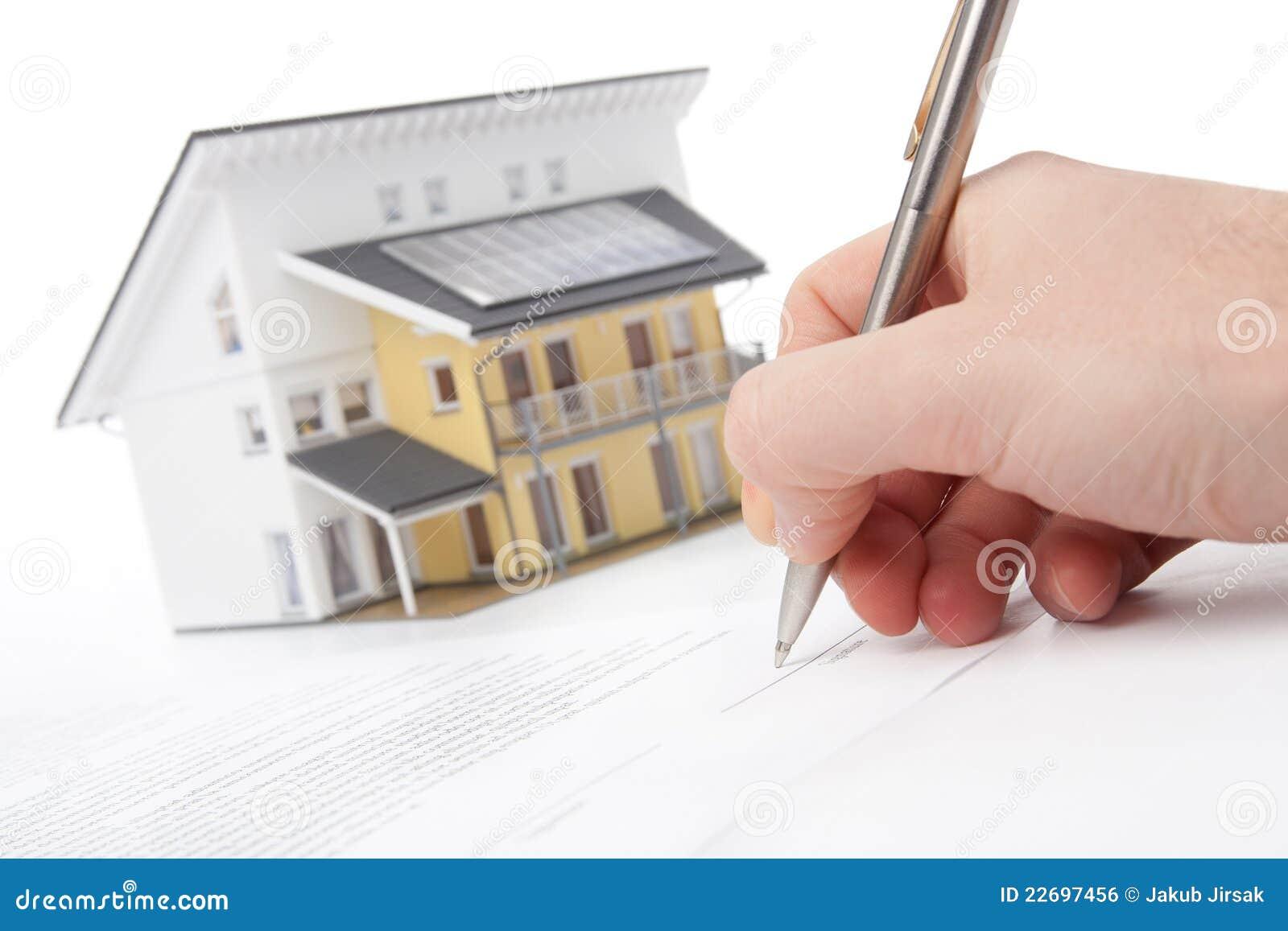 Contrato de la hipoteca imagen de archivo libre de for Contrato de hipoteca