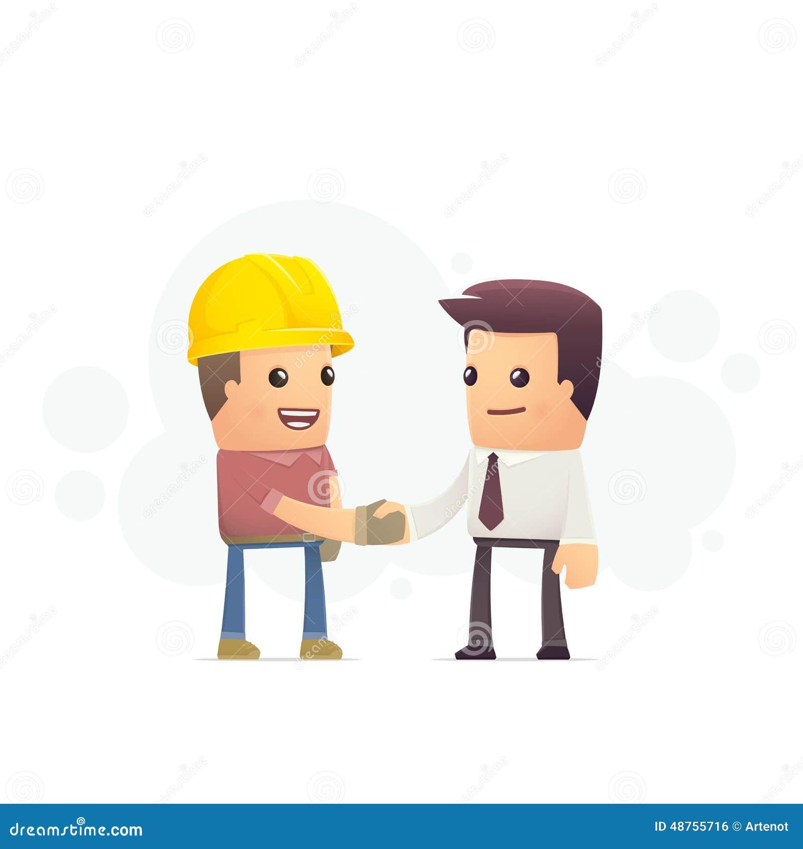 Contratto di costruzione illustrazione di stock for Costruttore di piani di costruzione