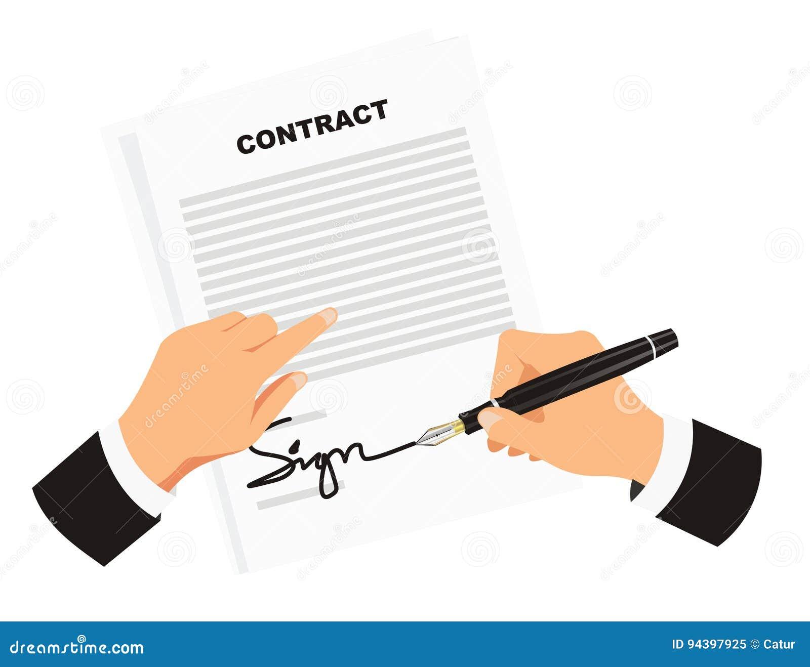 Contratto di firma per l affare