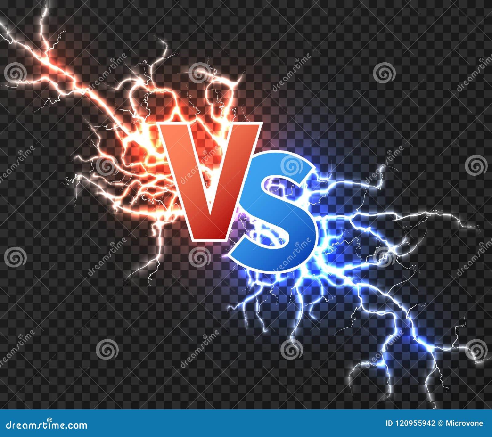 Contre le concept avec la collision de la décharge deux électrique Contre le fond de vecteur avec l explosion de puissance de la