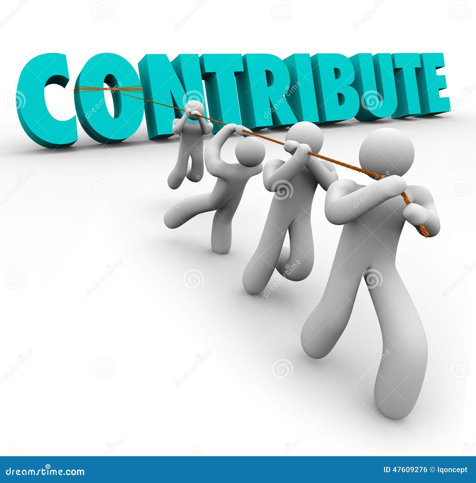 Contribua a palavra 3d levantada por Team Giving Sharing Contribution