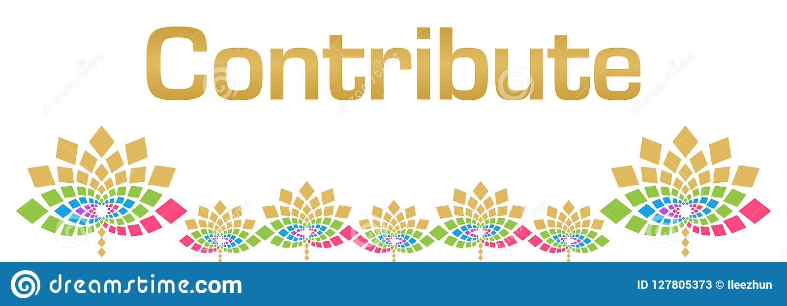 Contribuez horizontal floral coloré