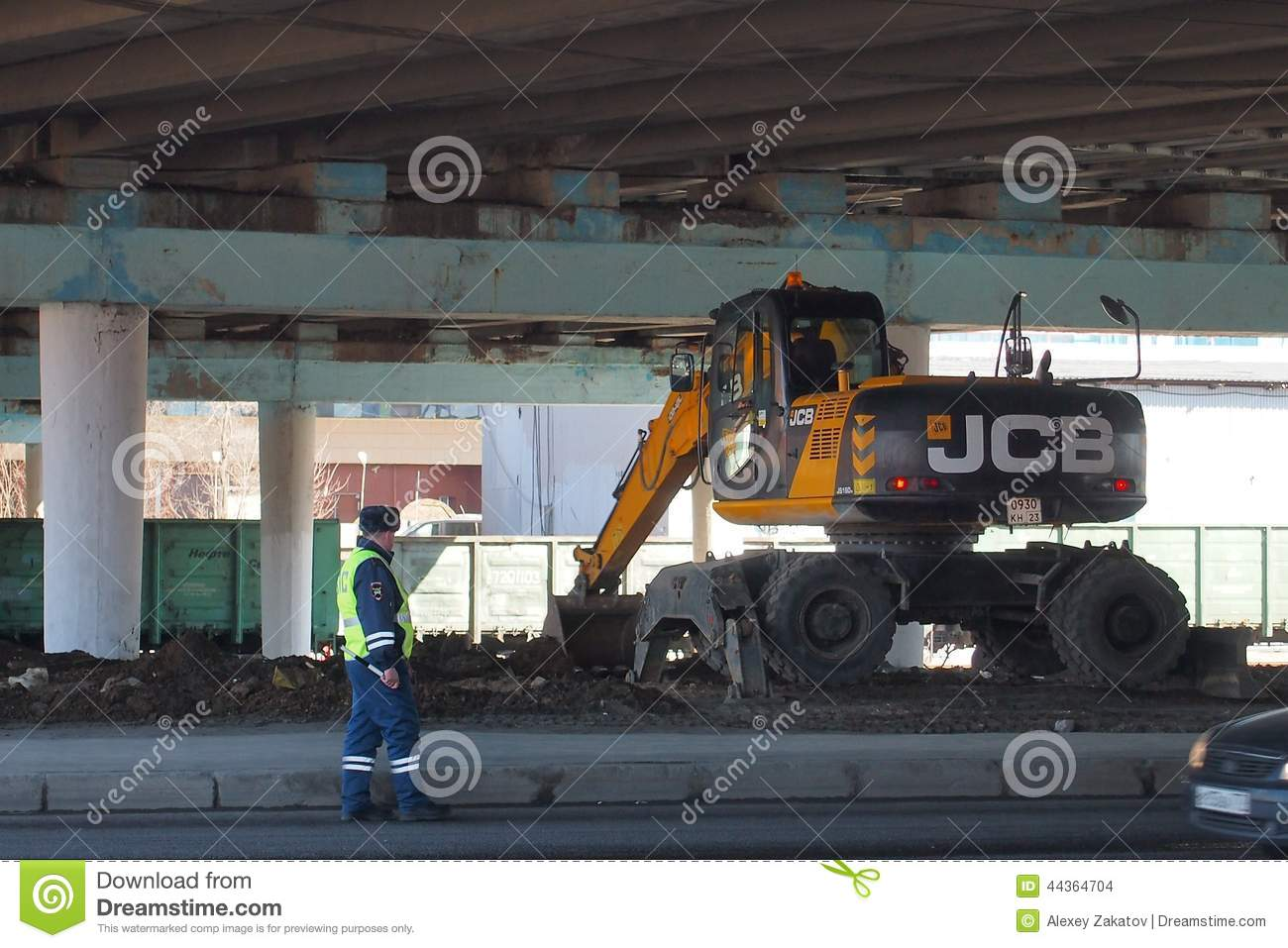 Control Of Construction Equipment Editorial Stock Image