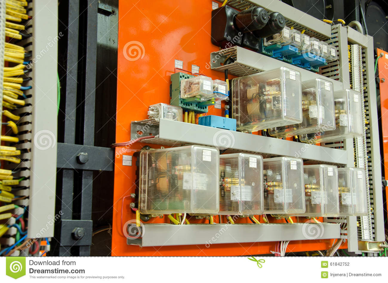Control Panel With Cables And Wires Stock Photo Image Of Wiring A Panelpanelwiredjpg