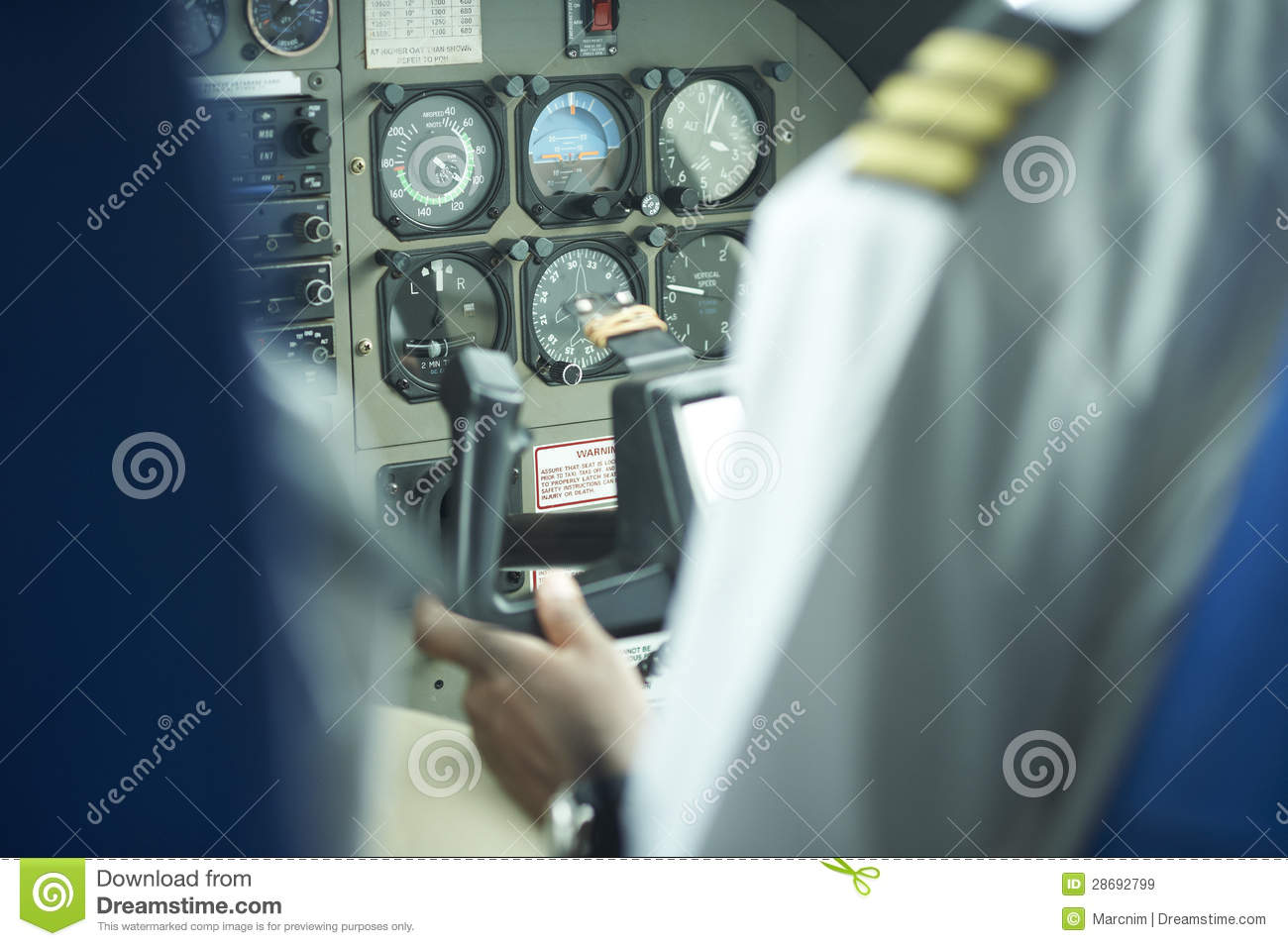 Control Panel On A Cesna Airplane Editorial Stock Image - Image of