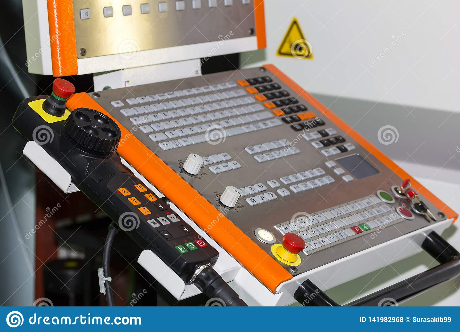Control panel of cnc machining center at workshop