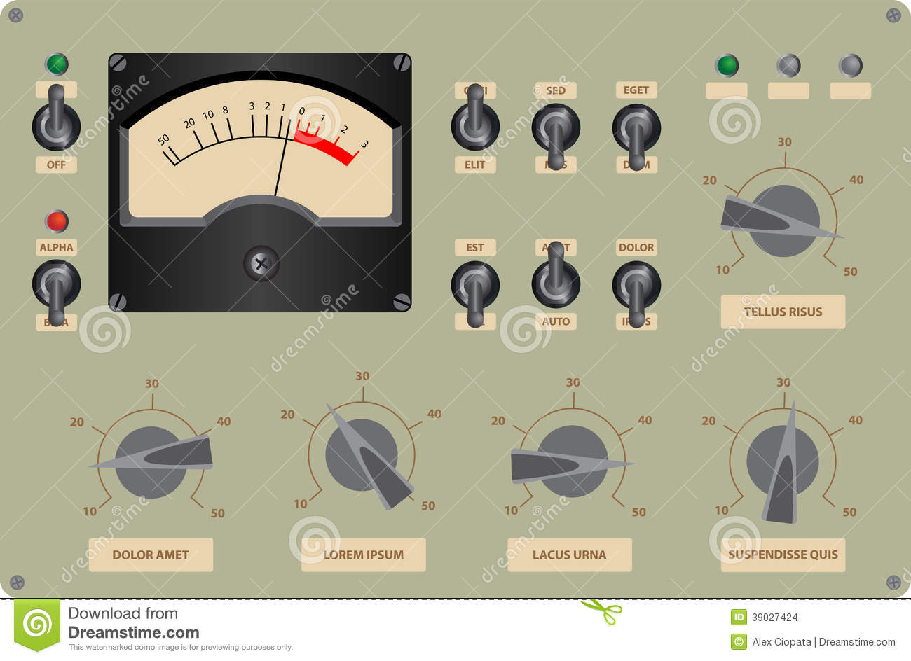 Stock Images Control Panel Editable Vector Illustration Analog Image39027424 on old airplane radio