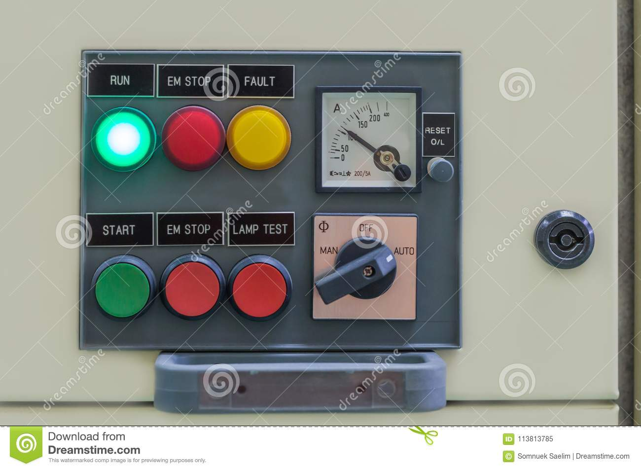 Control Panel Electrical Equipment Main Switch Control Electric ...