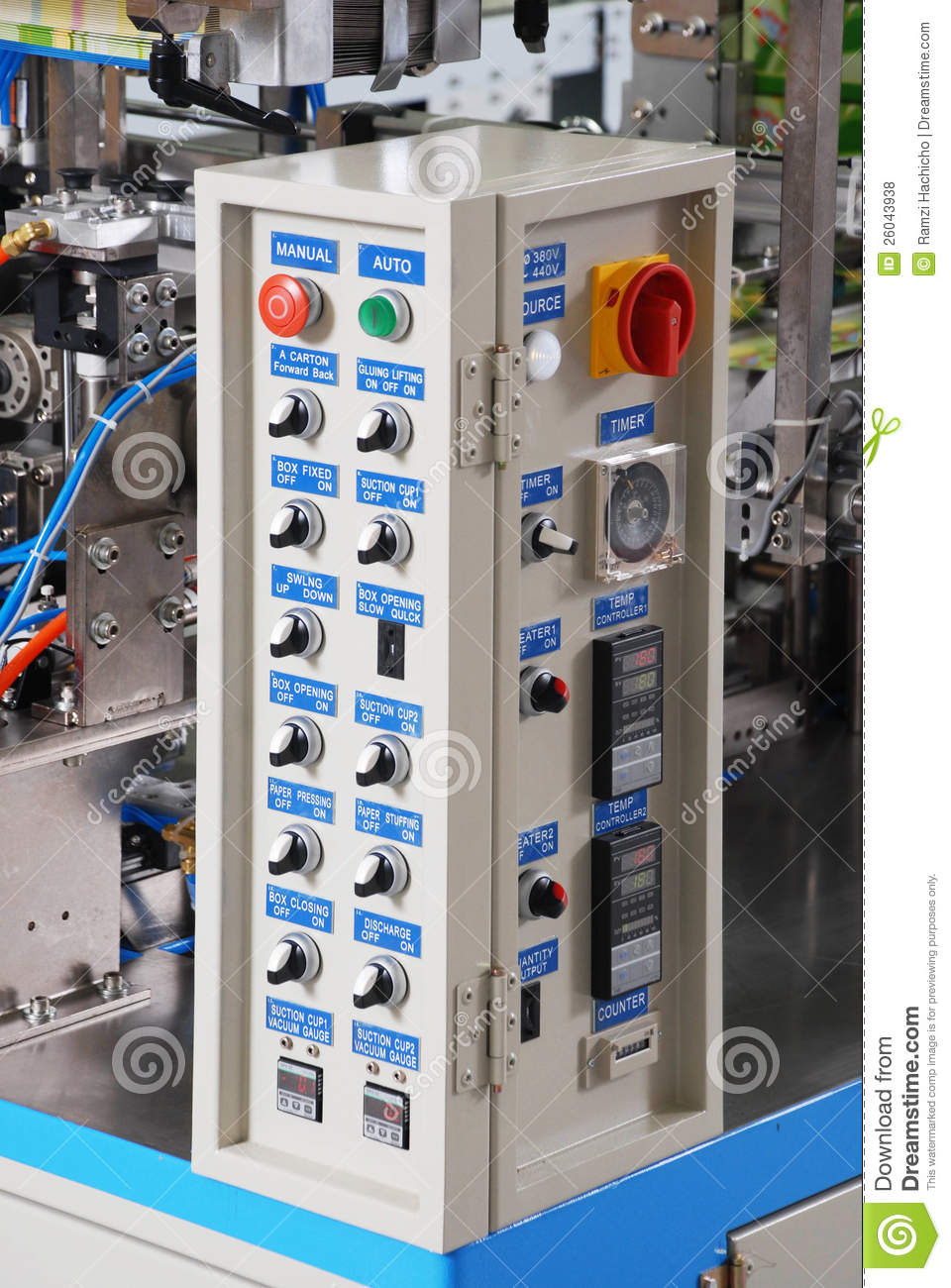 Control Panel Of An Electrical Switchgear Cabinet Royalty