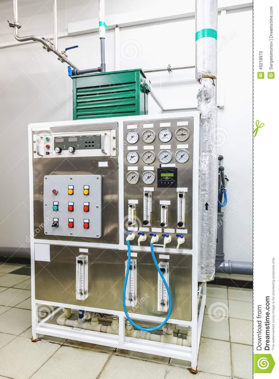 Tractor Technology Panel : Control panel equipment on pharmaceutical industry stock
