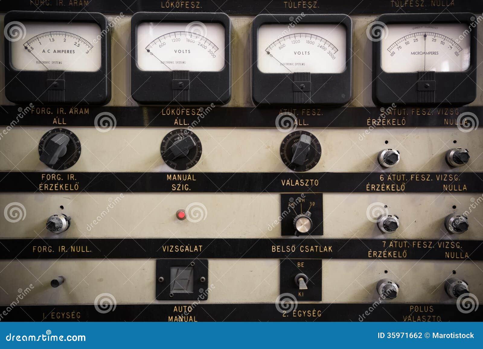 Control Panel Stock Photography Image 35971662
