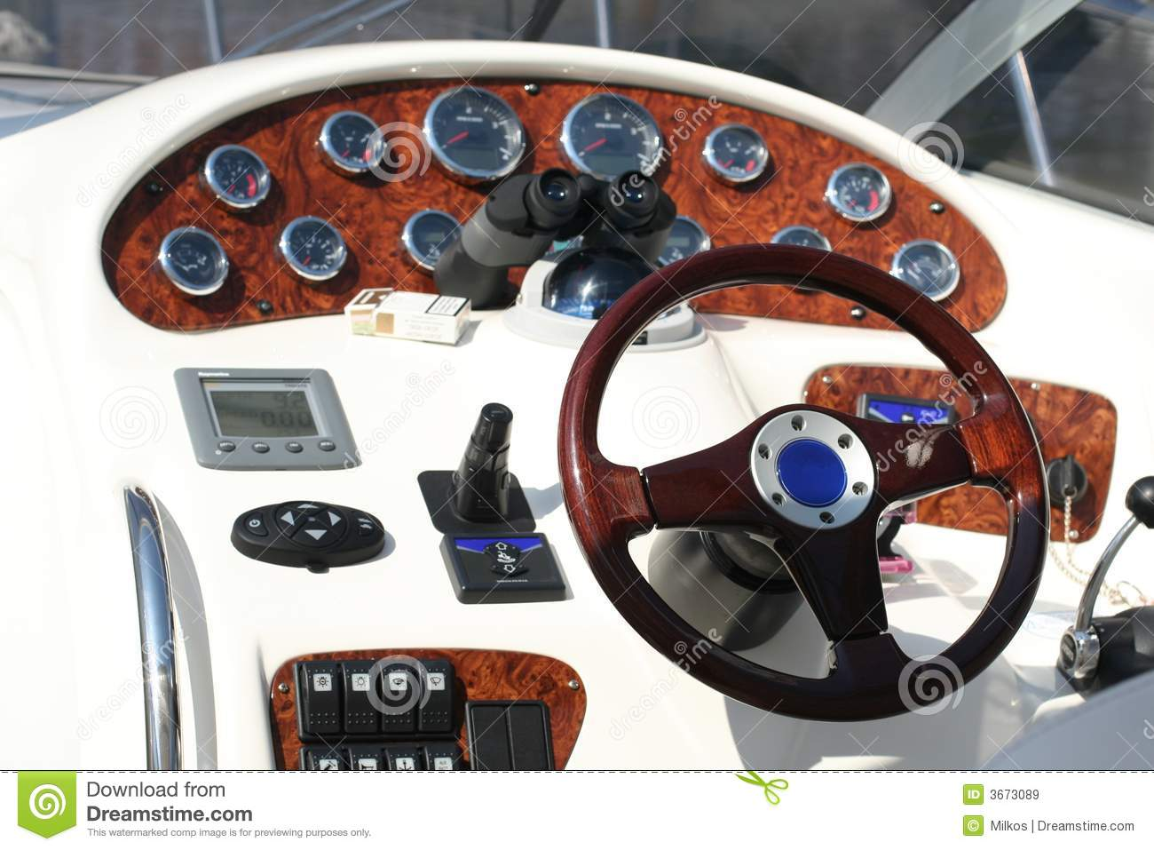 Boat Control Panels : Control panel of the speed boat stock image