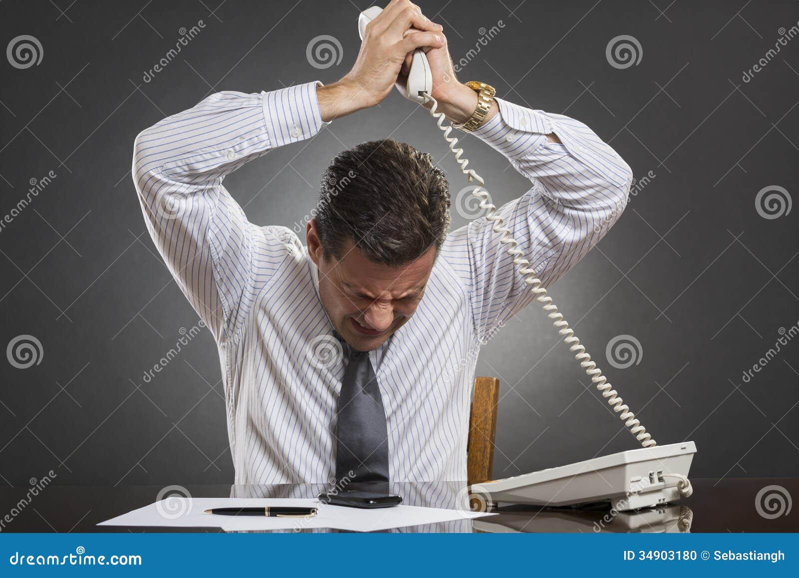 Control perdidoso del genio del hombre de negocios