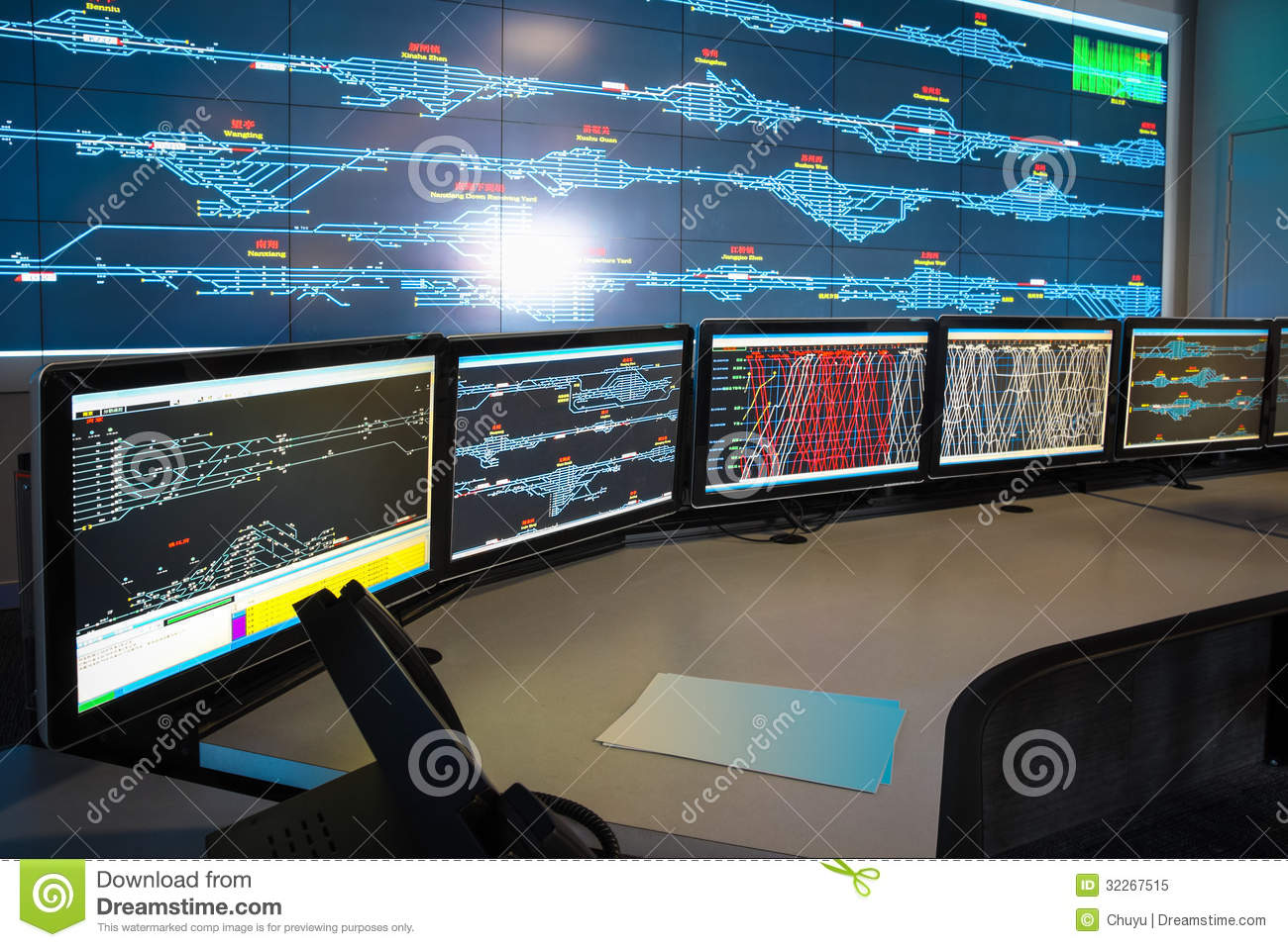 Control Room Of Railway Royalty Free Stock Photo - Image: 32267515