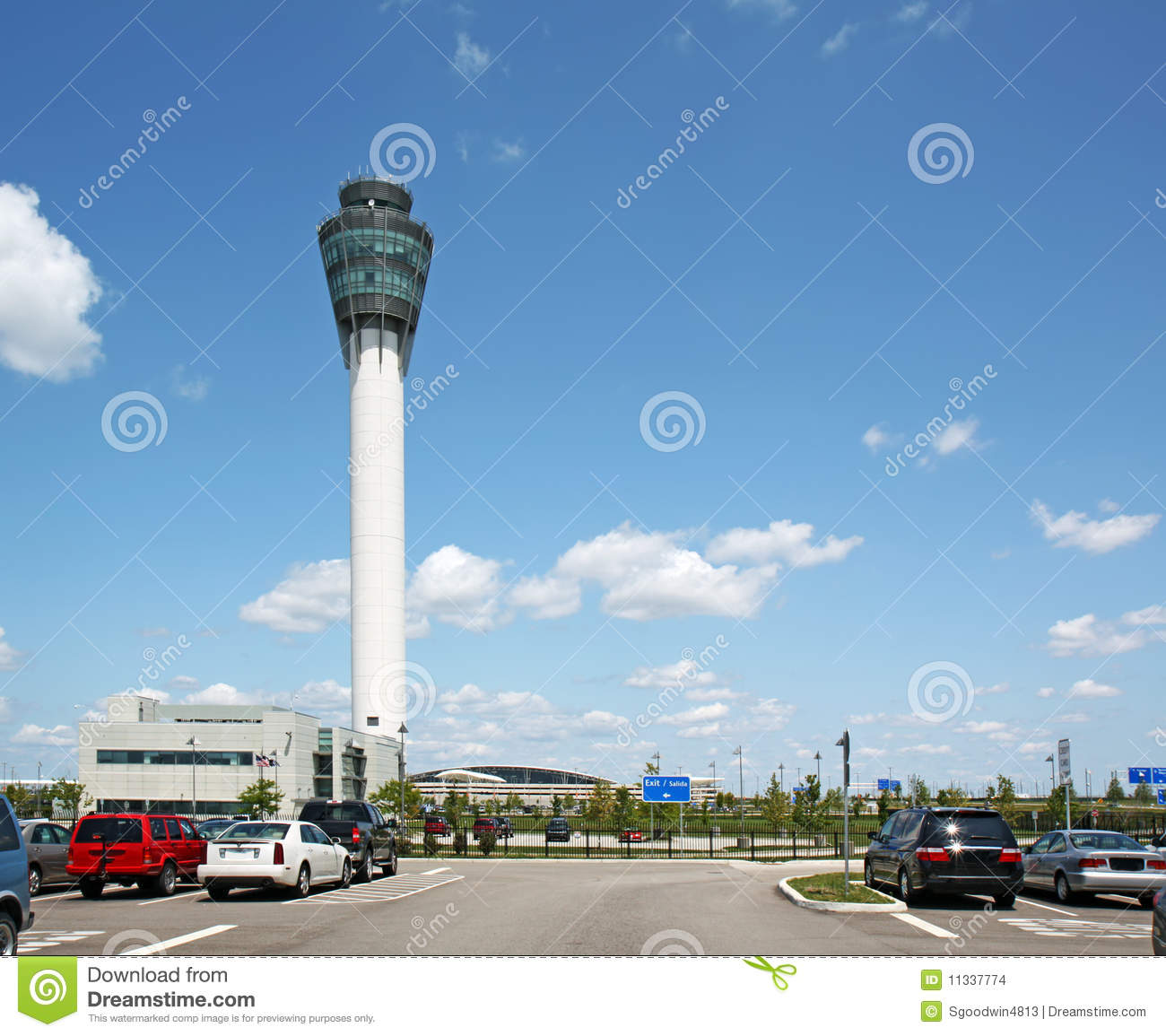 Control Tower At Indianapolis International Airpor Stock