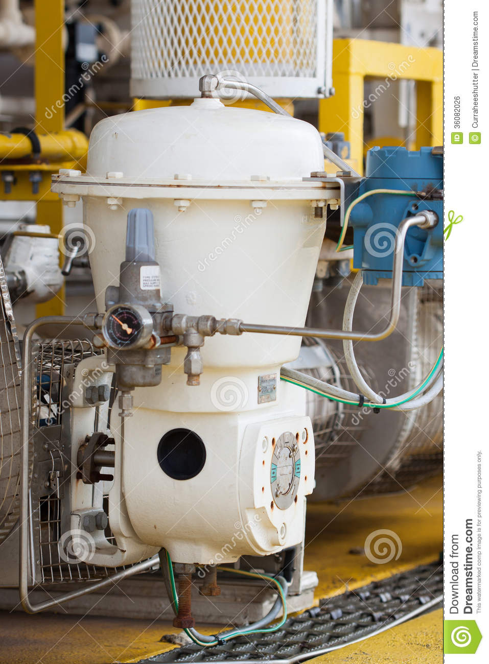 Control Valve Or Pressure Regulator In Oil And Gas Process Stock