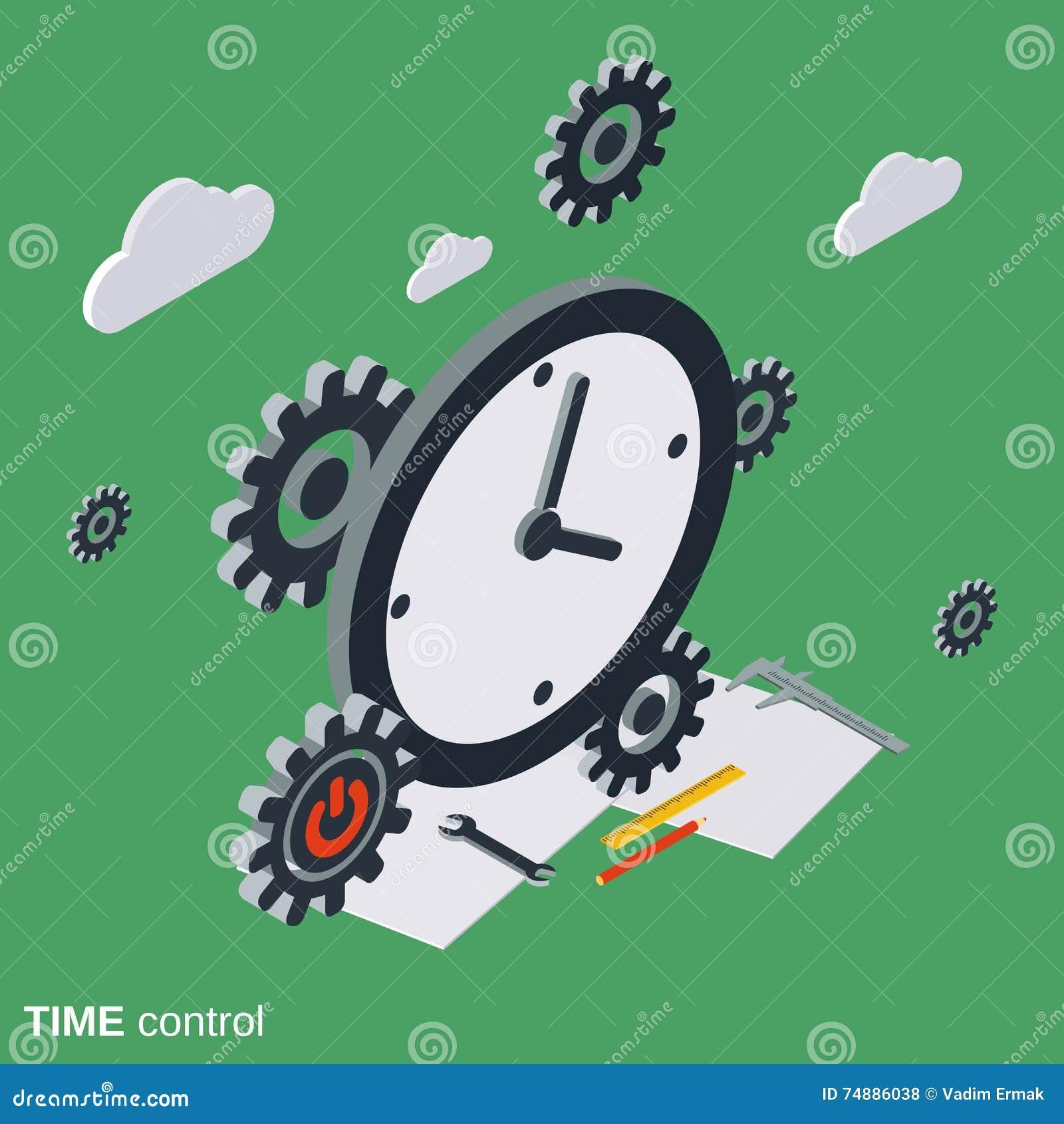 Controle de tempo, conceito do vetor da gestão de tempo