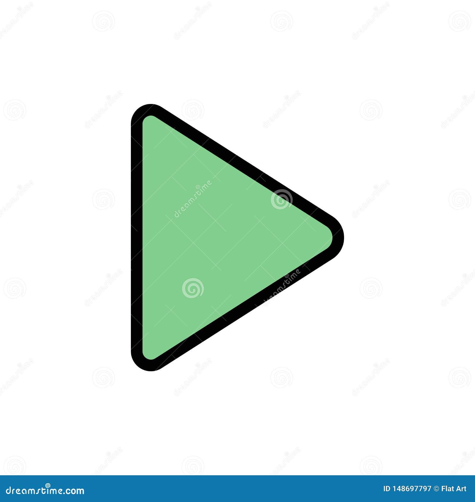 Controle, meio, jogo, ícone liso video da cor Molde da bandeira do ícone do vetor