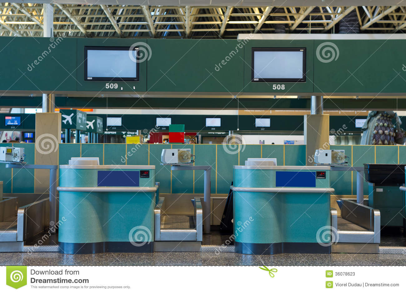 Controle op gebied in de luchthaven