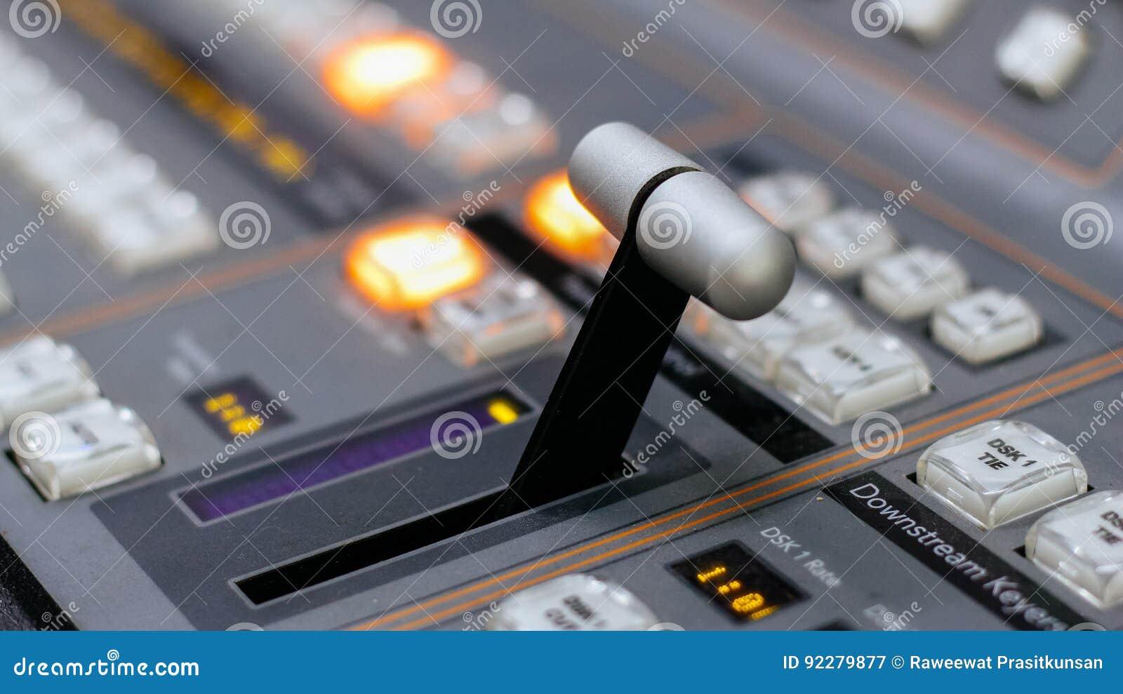 Controle video do misturador