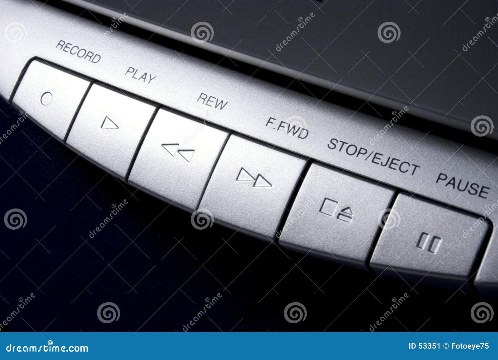 Controles de cinta de cassette