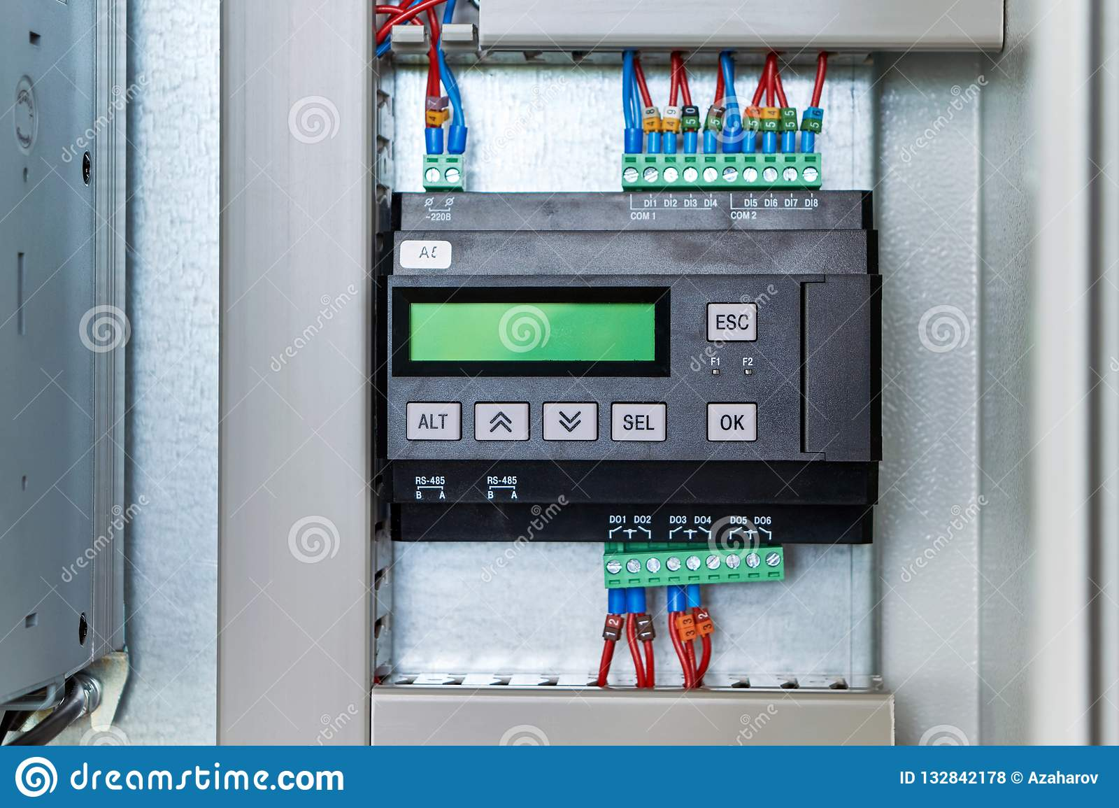 Controller or logic control relay in electrical Cabinet
