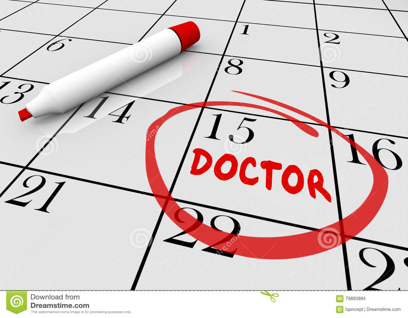 Calendario Fisico.Controllo Del Dottore Appointment Health Care Sul Calendario