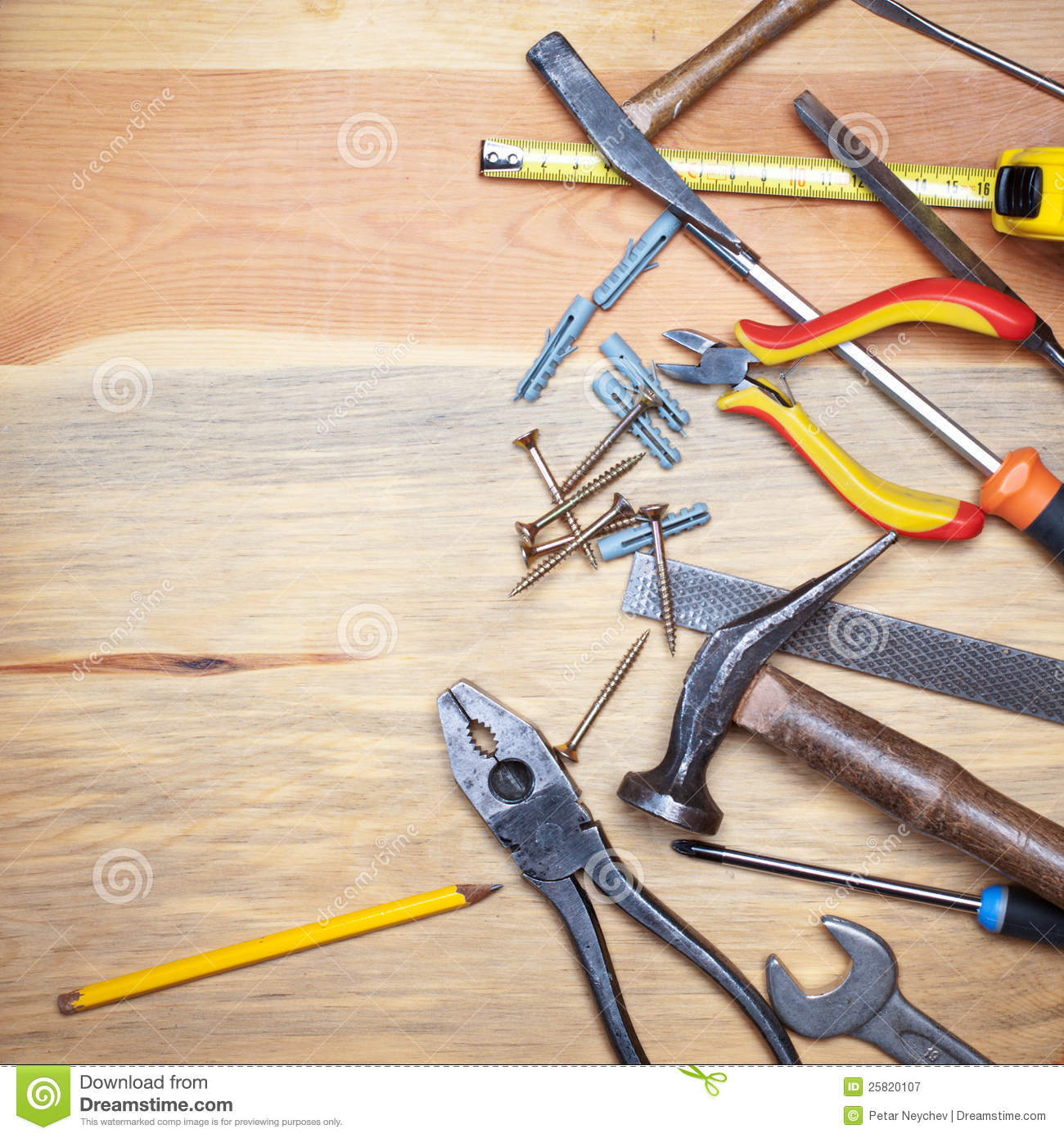 ... Background With Tools Royalty Free Stock Photography - Image: 25820107