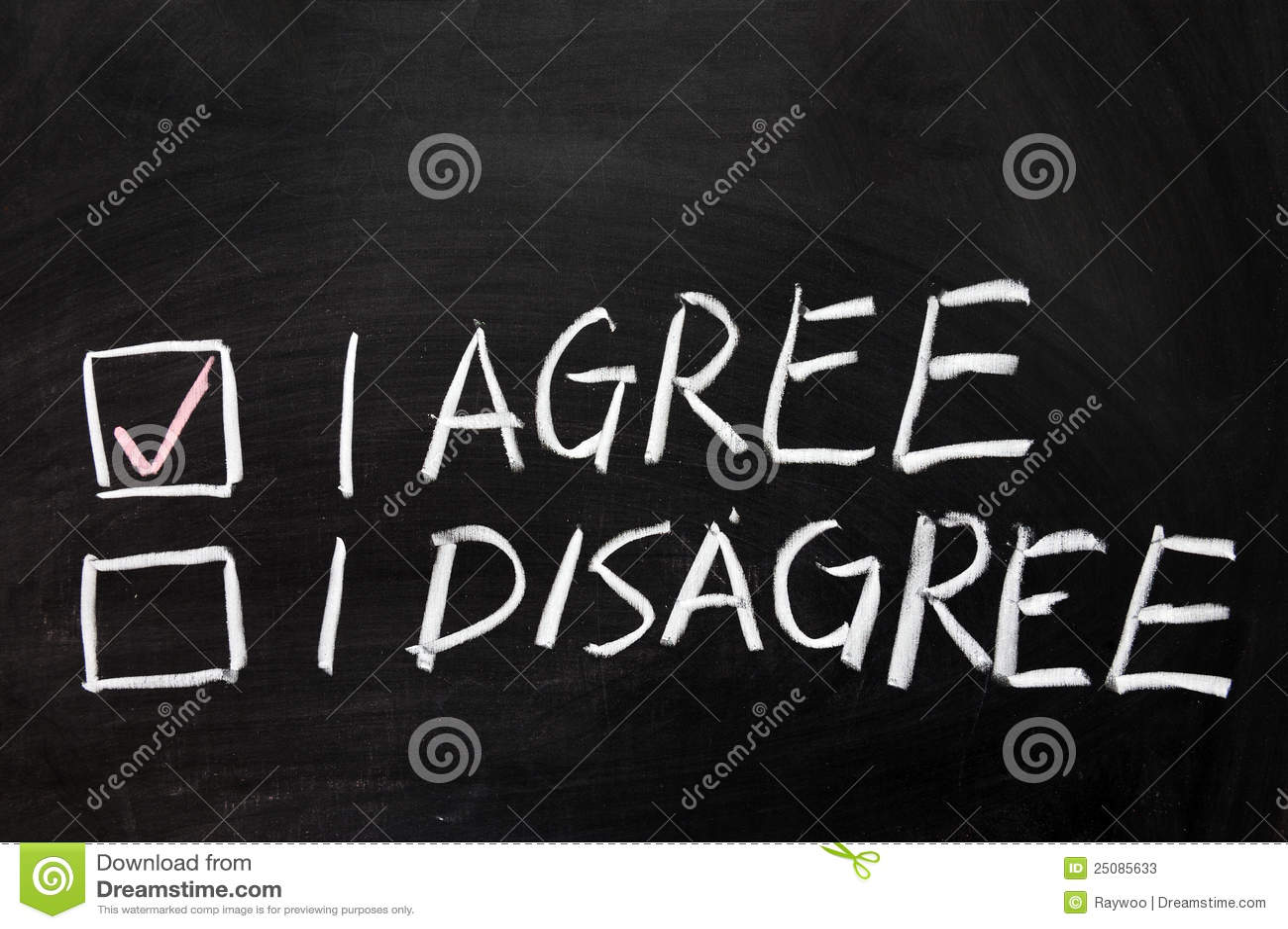 Convenez ou soyez en désaccord