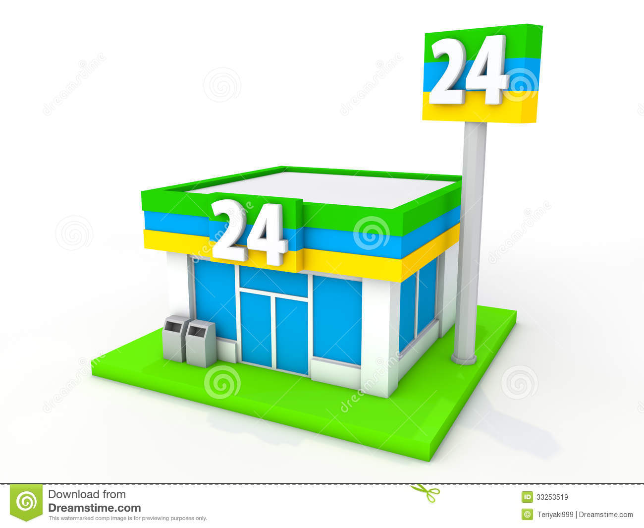 Convenience Store Royalty Free Stock Images Image 33253519