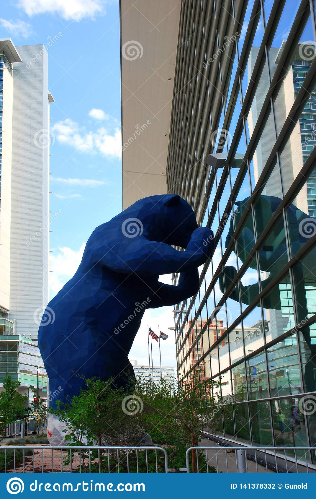 Denver Convention Center And Blue Bear Editorial Photography