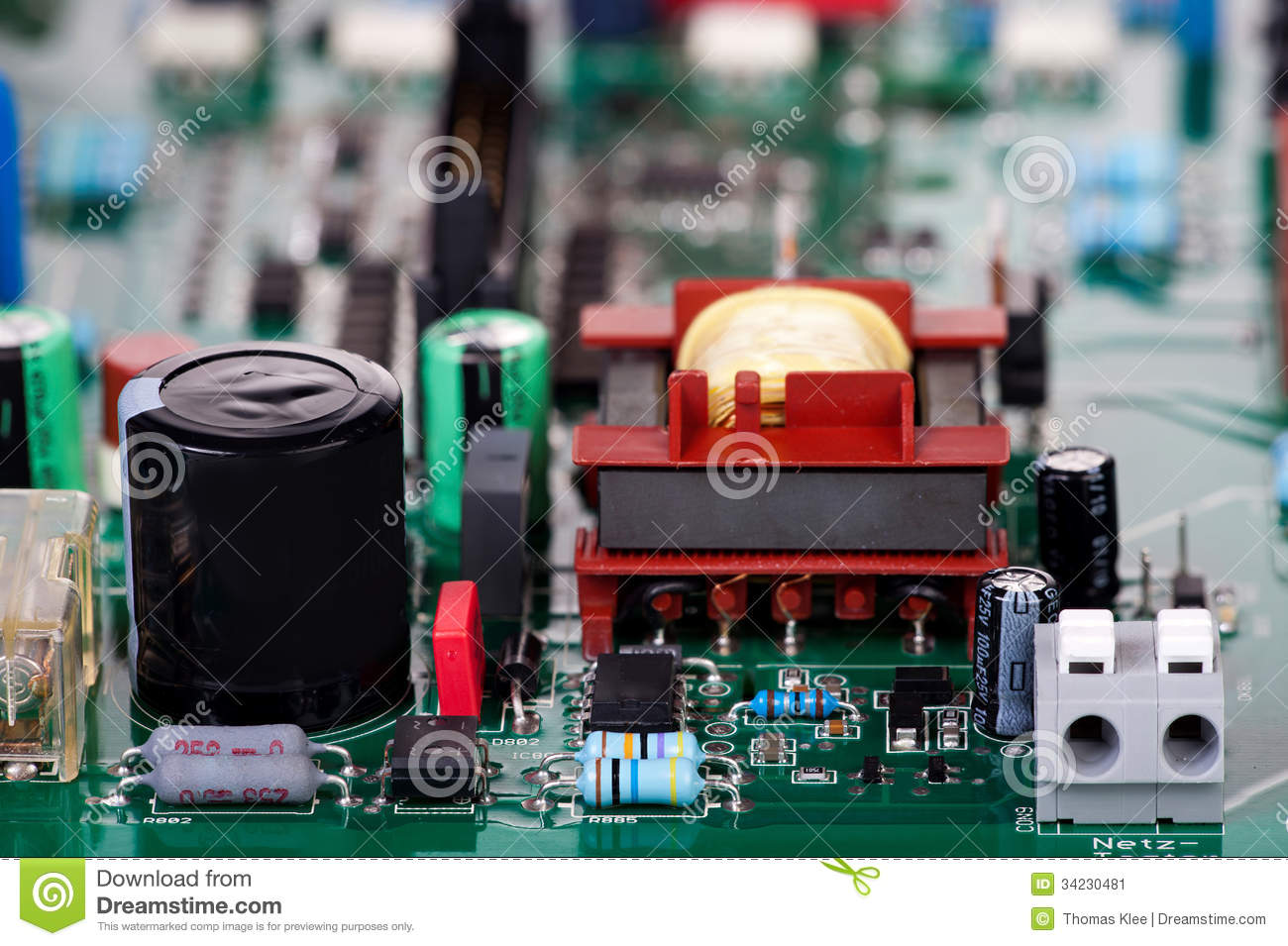 conventional electronic components stock image image Identify Electronic Components Circuit Board Electrical Circuit Board Components Sound