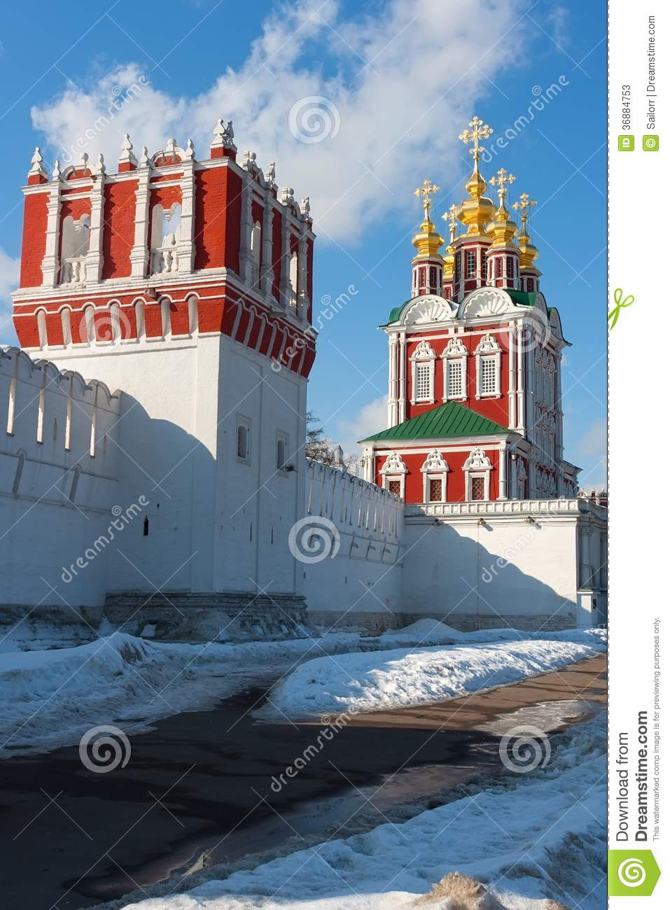 Download Convento di Novodevichy immagine stock. Immagine di famoso - 36884753