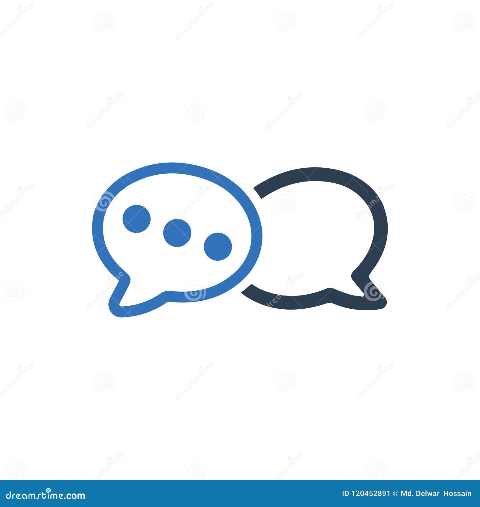 Conversação, ícone do bate-papo