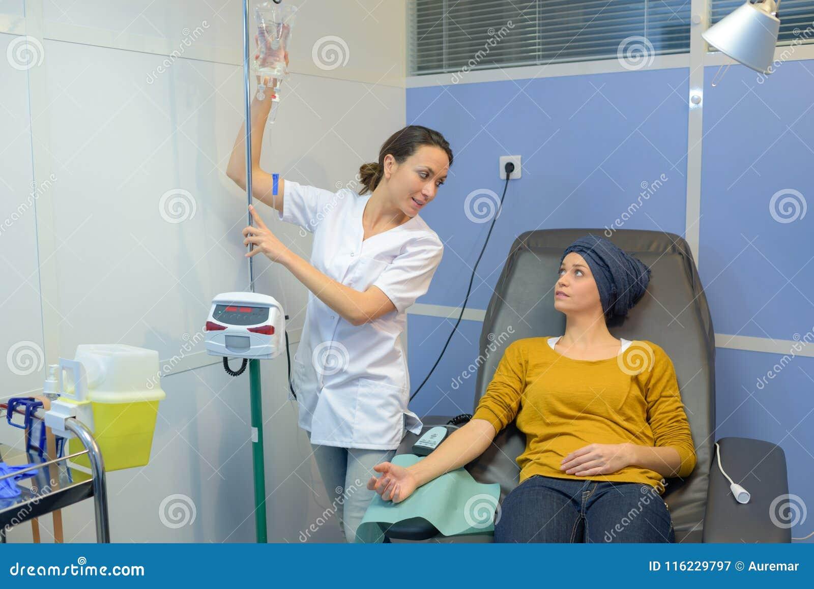Conversação com a enfermeira