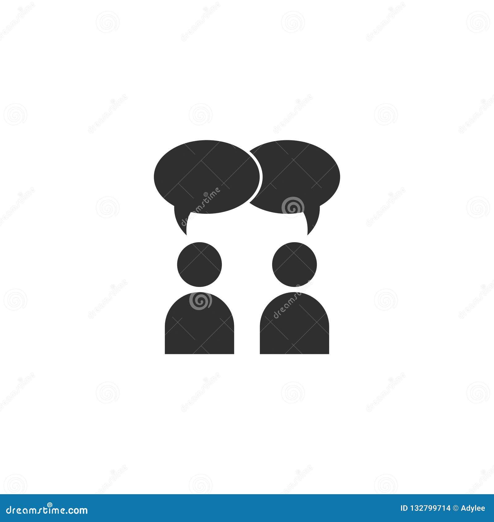 A conversação do vetor ou o bate-papo do ícone dos povos isolaram 2