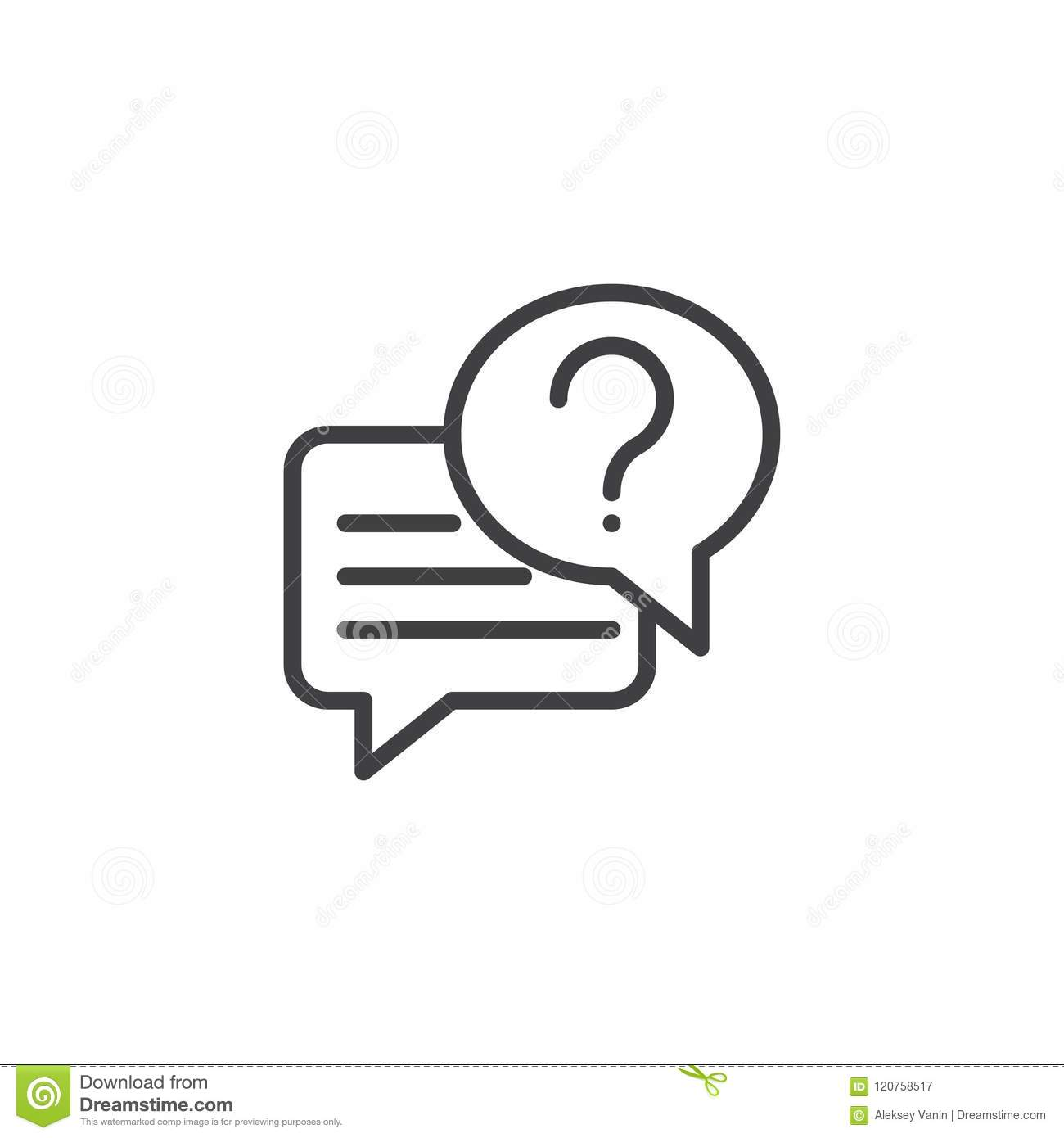 Conversation chat outline icon