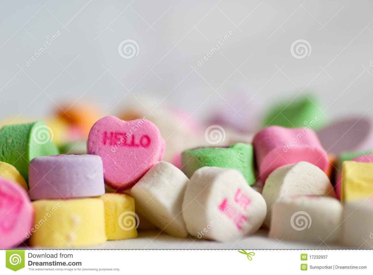 Conversation Valentine Hearts Hello Stock Image Image Of Pink
