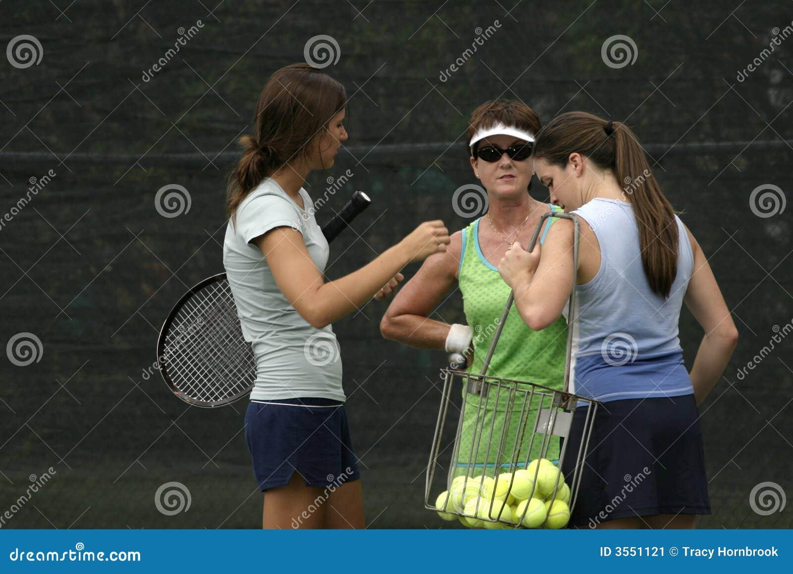 Conversazione dei giocatori di tennis