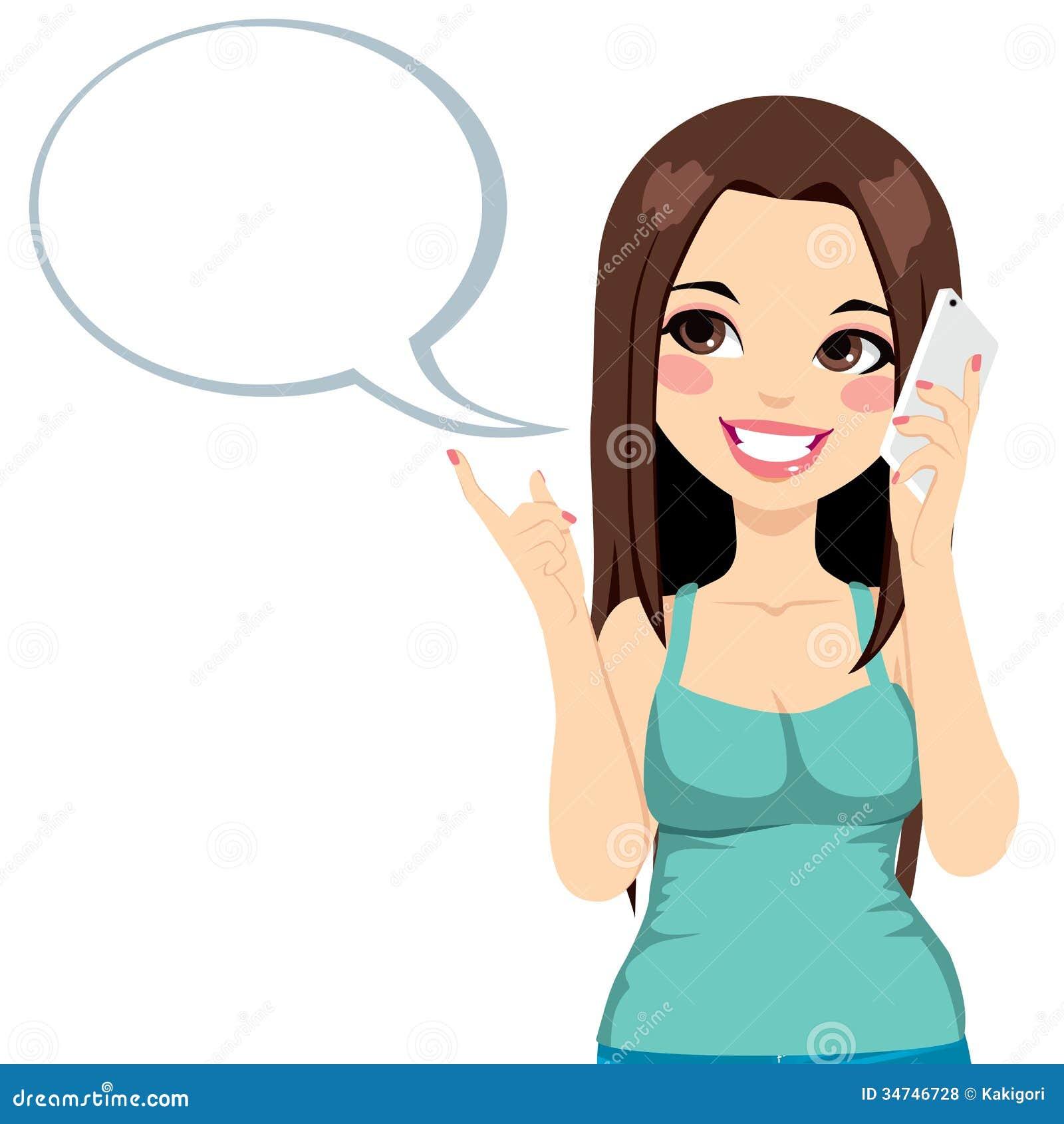Conversazione del cellulare della ragazza